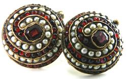 Vintage Pearl & Garnet Earrings