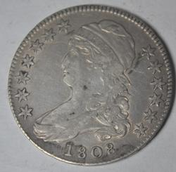 1808 Early Bust Half Overton 107, Circulated