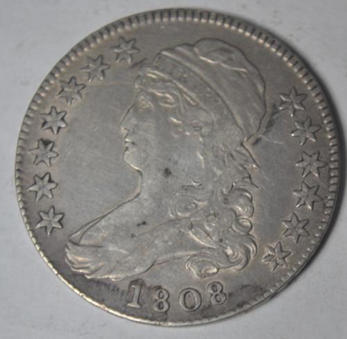 1808 Early Bust Half Overton 107, Circulated