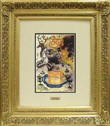 SPECTACULAR DALI HELIOGRAVURE WITH REMARQUE FRAMED