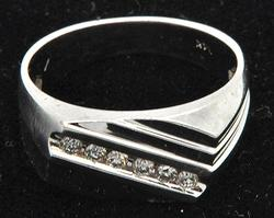 Men's Elegant Diamond Ring in 14K White Gold
