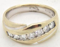 Gents 14kt Gold 1ctw Diamond Ring
