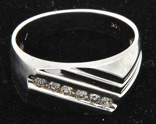 Men's Elegant Diamond Ring in 14K White Gold