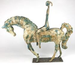 Very Rare & Unique Equestrian Sculpture, Signed by the Artist, French