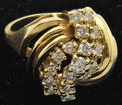 Ladies Cocktail Diamond Ring in 14kt Gold