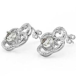1.9Ctw White Topaz Earrings