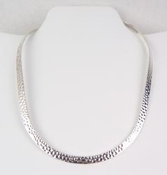 Vintage Hammered Sterling Silver Neckpiece