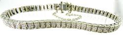 White Gold Straight Line Diamond Bracelet