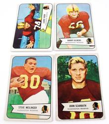 4 Vintage 1954 Redskins Football Cards