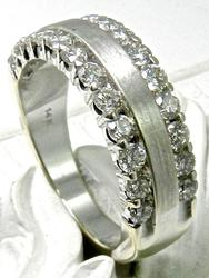 Pleasing Diamond Edged Band