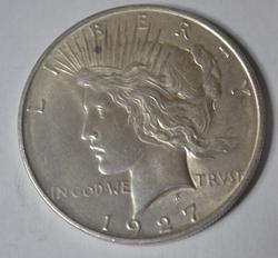 BU 1927 D Peace Dollar