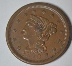 1850 Near UNC Large Cent
