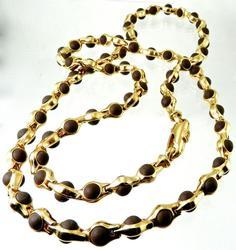 Unique 18kt Rose Gold Necklace, 89.8 grams.