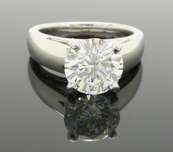 Premium Quality 2.28cts Diamond Solitaire Ring