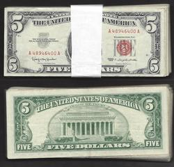 $5 1953 and 1963 Series Legal Tender 100 Notes