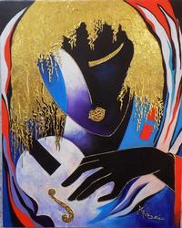 Original Acrylic on Canvas by Arbe Berberyan