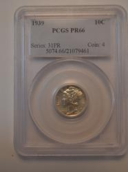 1939 PCGS Proof 66 Mercury Dime