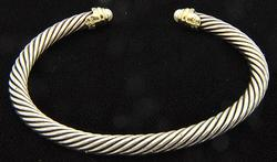 5mm David Yurman Sterling Silver Cable Style Bracelet
