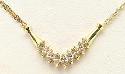 Well Made & Equisite 2ctw Diamond Necklace, 14kt Gold