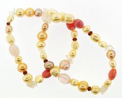 Group Lot of Gemstone and Crystal Bracelets