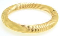 Circular 14kt Gold Cuff Bracelet