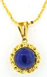Lapis Pendant in 18kt Gold