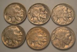 1926 1928 1929 D DOUBLE RIM,1936& 1936 S Buffalo Nickel