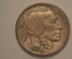 Near Unc 1920 D Buffalo Nickel