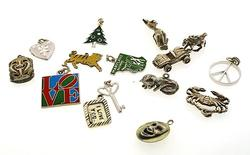 Great Group Lot of 18 Sterling Silver Charms