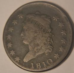 1810 Classic Head Large Cent S 284 Rarity 3