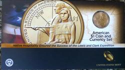 2014 Enhanced Sacagawea American $1 Coin & Currency Set