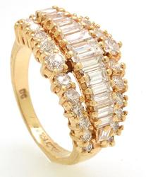 Well Crafted 1+ctw Multi-Cut Diamond Ring, 14kt Gold