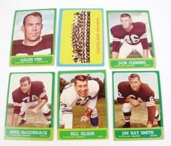 6 Cleveland Browns 1963 Football Cards