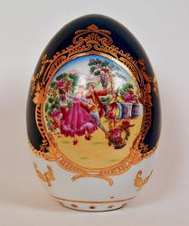 Vintage P.R.C. Limoges Egg With Fregonard Scenes