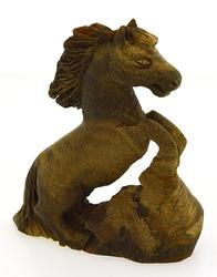 Tiger's Eye 234.45ct Carved Horse