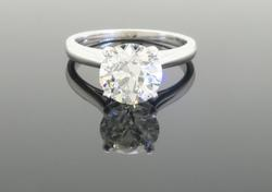 2.22 CT Diamond Engagement Ring in White Gold