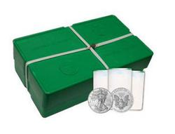 Monster Box of 500 Mint Sealed American Silver Eagles, 2001