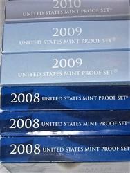 Six Proof Sets - 2008, 2009, 2010