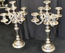 800 Silver 5 Light Candelabra  21 Inches Tall