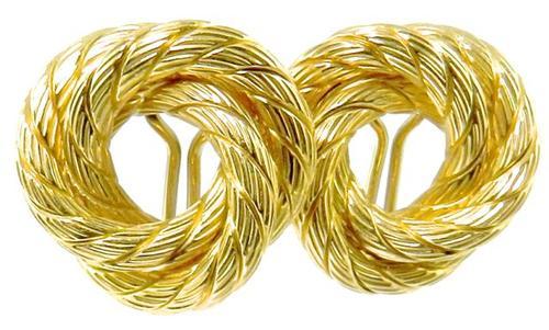 Tasteful High End Italian Made 18kt Gold Earrings
