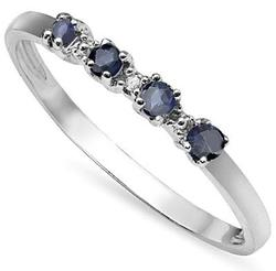 Sapphire Sterling Ring