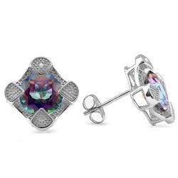 3.82Ctw Mystic Gemstone Earrings
