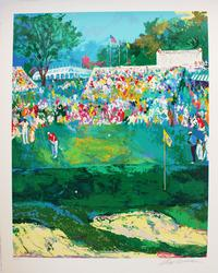 Spectacular Leroy Neiman Hand Signed Golf Serigraph