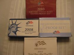 Four Silver US  Proof Sets - 2007-2009 and 2010