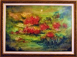 Spectacular Hand Signed Kamran Khavarani on Canvas