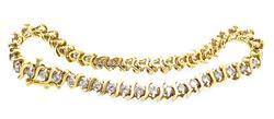 2.25 CTTW Diamond S Link Bracelet