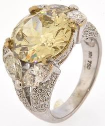 Large 18kt Gold 6+CTW Diamond Engagement Ring