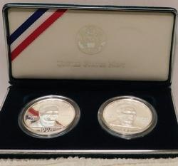 1998 2 pc. 2 Sil Dols Black Patriots Commemorative set