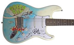Green Day Autographed Airbrushed Signed Dookie Album Guitar