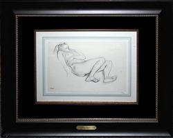1922 DEGAS HELIOGRAVURE ON PAPER FROM DESSINS DE DEGAS